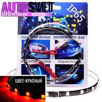 Светодиодная автомобильная лента 30см SMD5050 12Led Красная